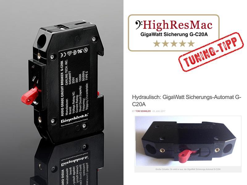 Klangtuning: Testbericht GigaWatt Sicherungsautomat G-C20A