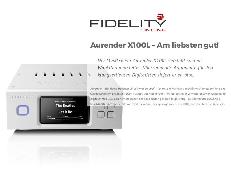 Musikserver Aurender X100 getestet bei Fidelity