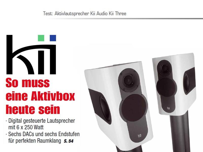 Kii THREE Aktivlautsprecher Testbericht HiFi Einsnull