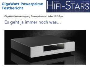 GigaWatt Powerprime und LC-3 EVO im Testbericht bei HiFi-Stars
