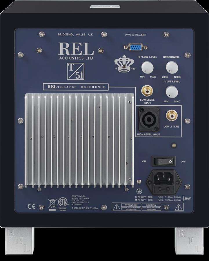 REL 5 T/i Subwoofer Rückseite